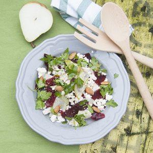 rode biet met peer salade