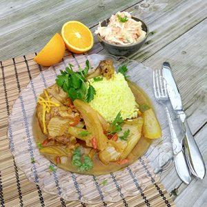 Perzische saffraankip met venkel en gojibes
